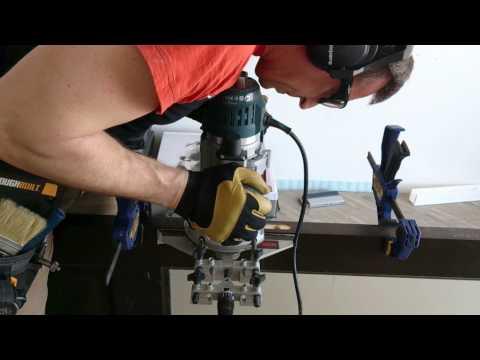 Врезка магнитного замка(выборка глубины фрезером)