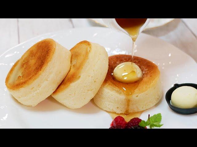 【ヴィーガン】優しい甘さのお店のふわふわ米粉パンケーキ【Vegan】Fluffy rice flour pancakes with a gentle sweetness