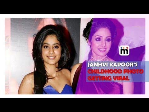 Janhvi Kapoor's Childhood Photo Getting Viral 2017   Mijaaj Entertainment