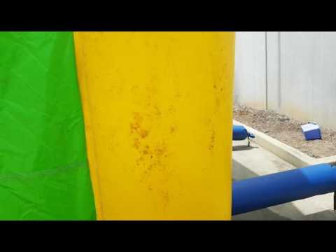 Removing mold from a jumping castle ir pvc materials