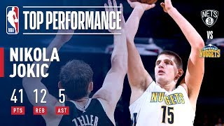 Nikola Jokic Scores CAREER-HIGH 41 Points in Win vs. Nets | November 7, 2017