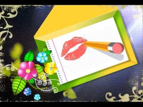 Tarjeta animada gratis para enviar un beso virtual