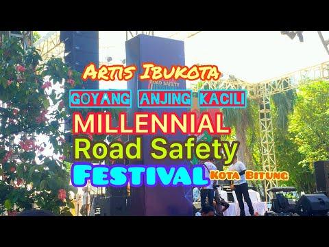 CHIKA JESSICA Goyang ANJING KACILI di Milenial Road Safety Festival Kota Bitung