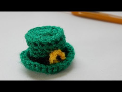 How to crochet my mini St. Patrick's Day hat