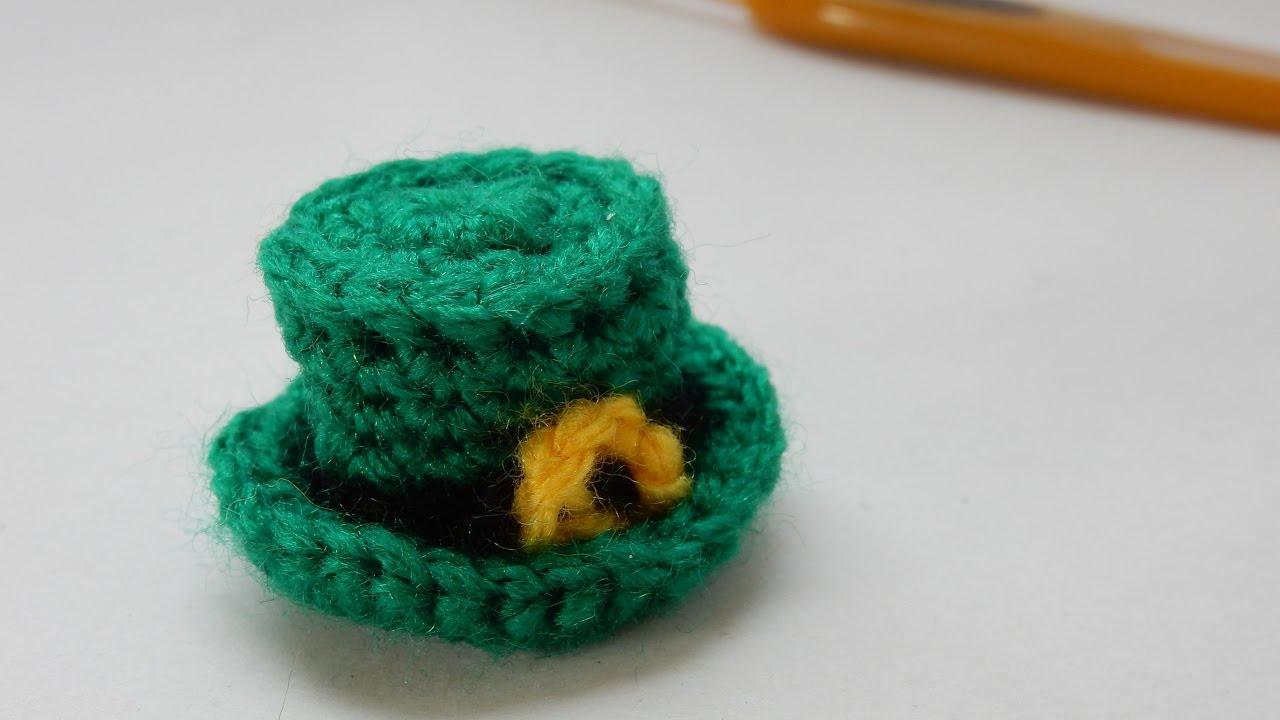 Free Amigurumi Leprechaun Pattern : How to crochet my mini st. patrick's day hat youtube