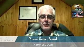 Pownal Select Board // 3-25-21