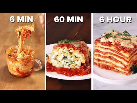 6-Min Vs. 60-Min Vs. 6-Hour Lasagna • Tasty