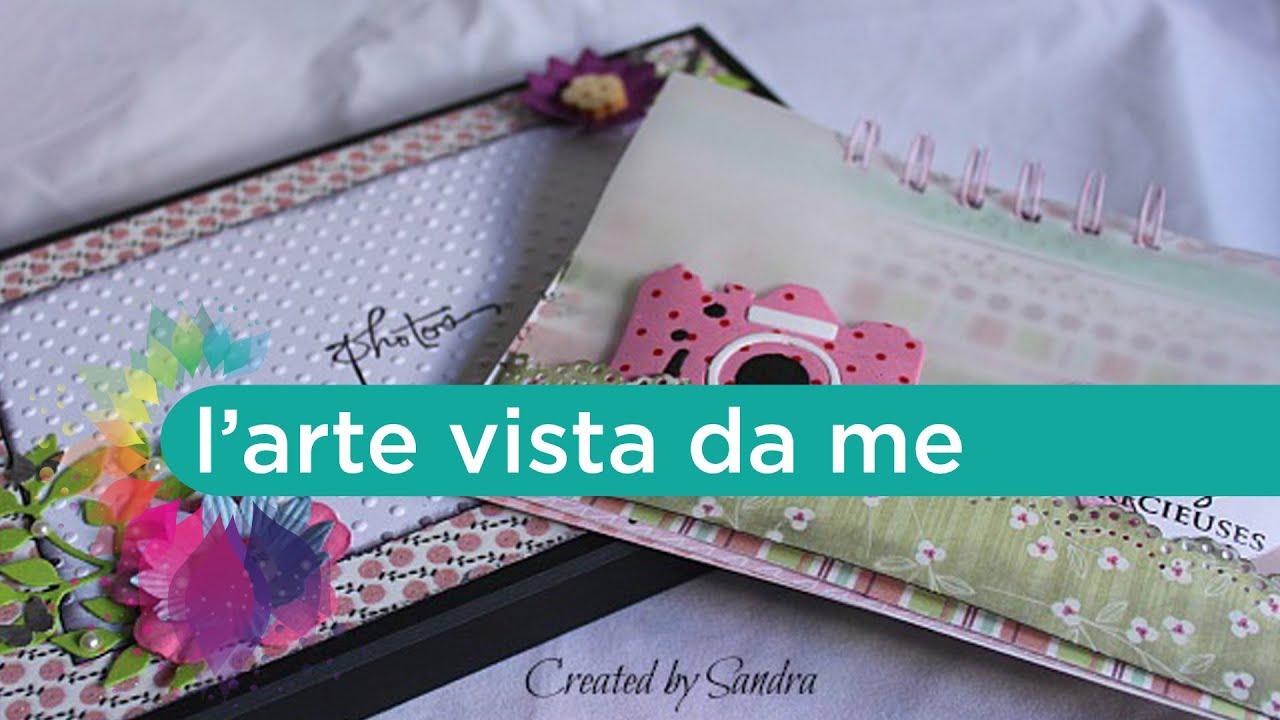 Favoloso Tutorial Scrapbooking: cornice portafoto fai da te con mini album  JQ35