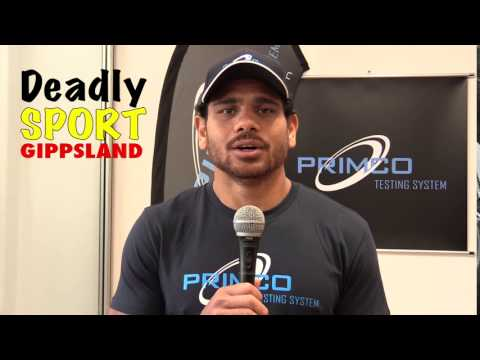 Cyril Rioli supports the Gippsland Indigenous Round