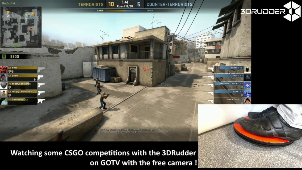 CS:GO with 3DRudder PC Game Controller GOTV