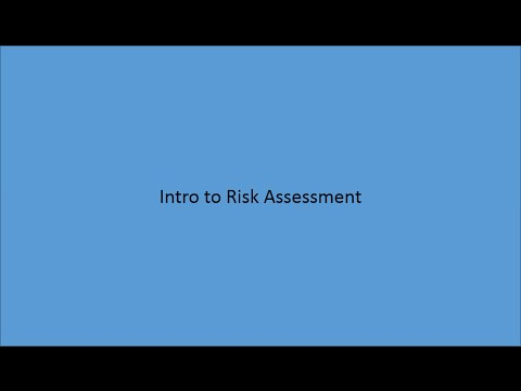 Public Health Intro to Risk Assessment