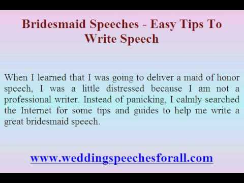 maid of honor speech tips