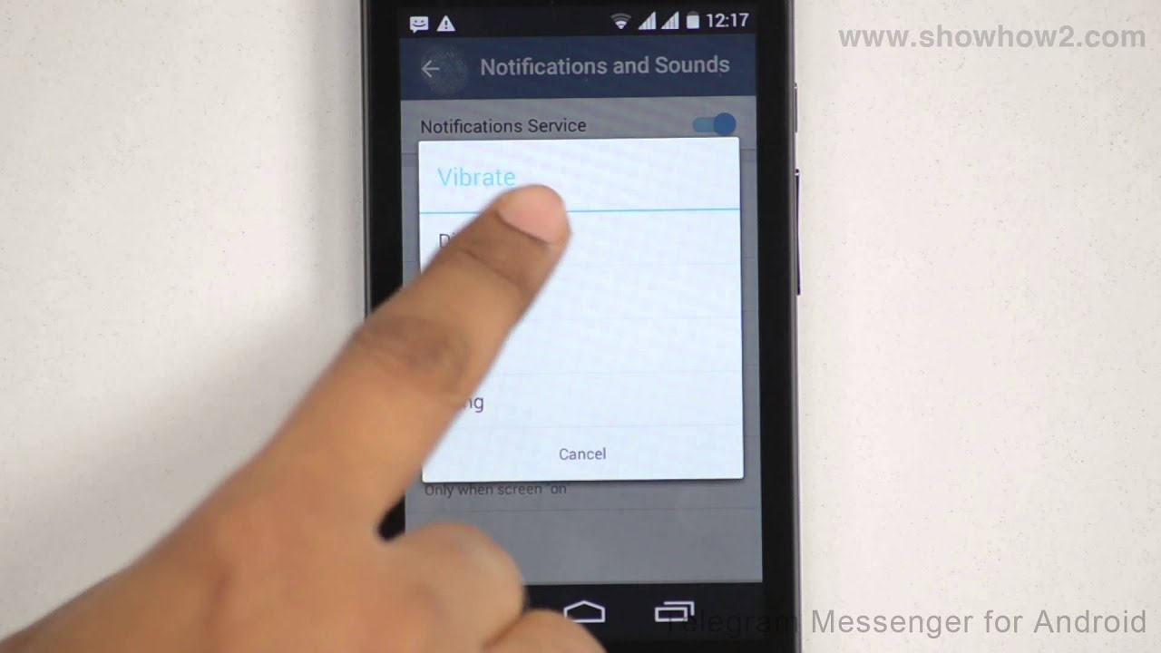phone vibrator alert on android x