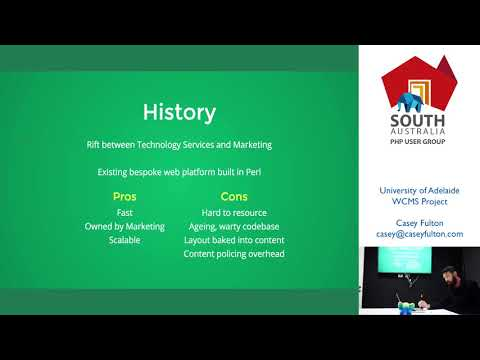 PHP Adelaide   Casey Fulton - University of Adelaide WCMS Project case study