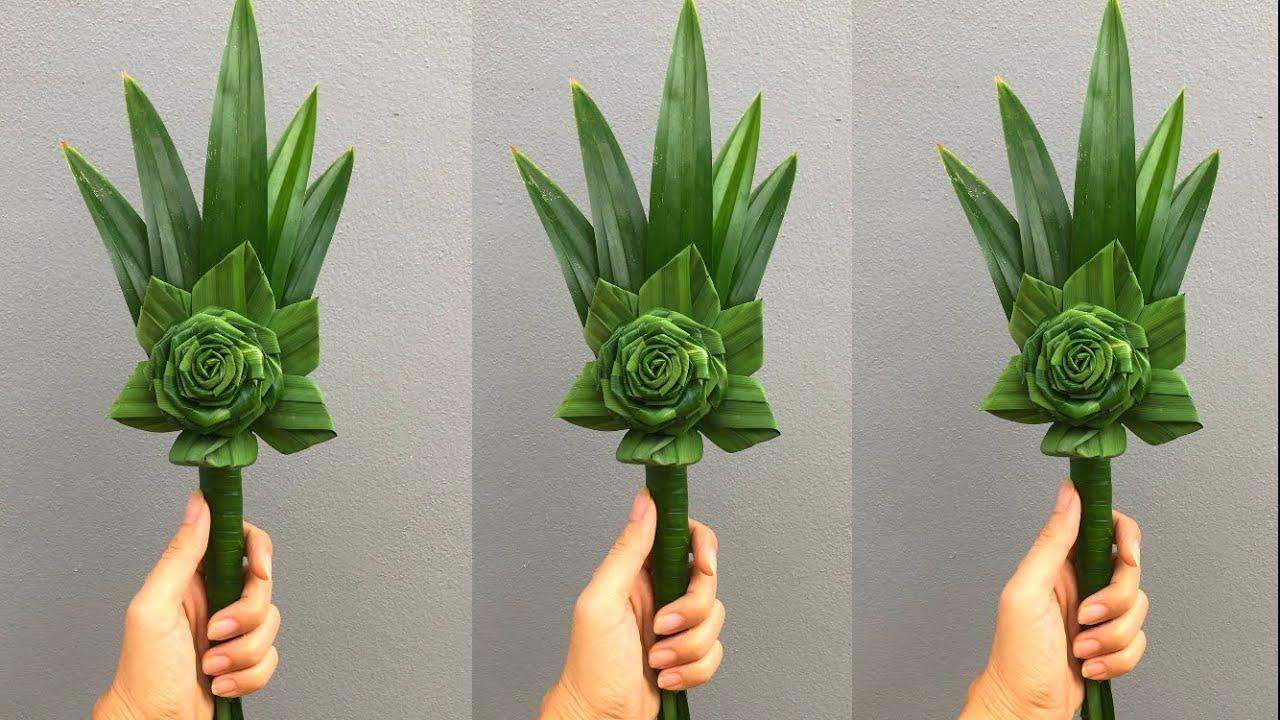 พับใบเตยดอกไม้ไหว้พระ สำหรับตักบาตรออกพรรษา | MeeDee DIY
