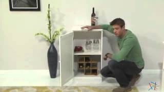 Lucca Home Wine Storage Cabinet - White - Product Review Video