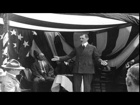 William Gibbs McAdoo standing and speaking at rally HD Stock Footage