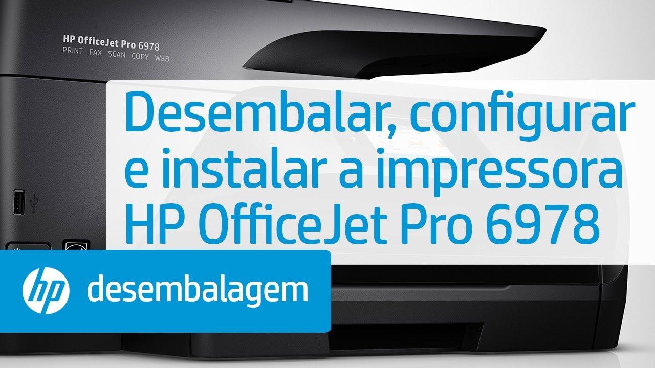 Desembalar Configurar E Instalar A Impressora Hp