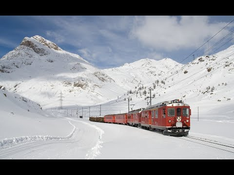 Live Train 24/24 Train Driver's View : Cab Ride in the World Line Railway in Winter! Best Great