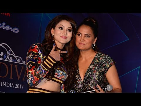 Lara Dutta & Urvashi Rautela At Yamaha Fascino Miss Diva Miss Universe India 2017 Press Conference