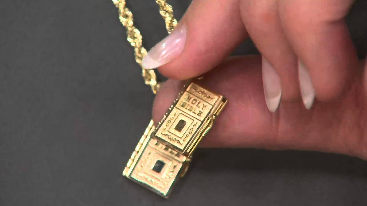 14k gold movable bible pendant on qvc youtube 14k gold movable bible pendant on qvc mozeypictures Image collections