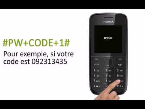 Comment Debloquer telephone Portable nokia 109