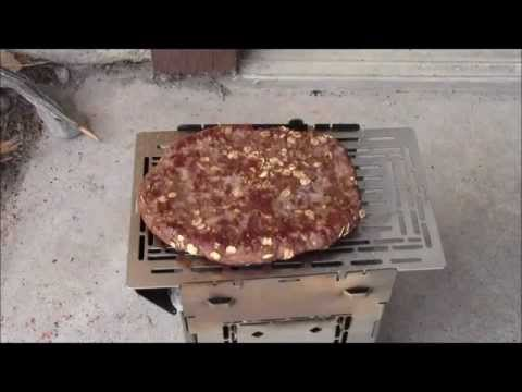How to use the Extended Grill Plate & Adjustable Fire Grate for Grilling a Burger.