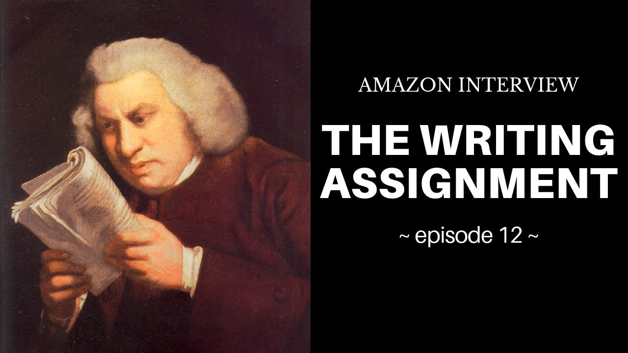 Amazon Interview (12 of 10): The Writing Assignment