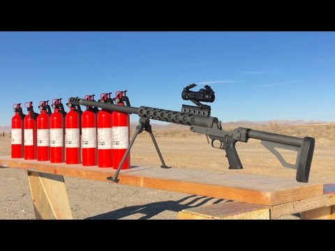 50 Cal vs FIRE EXTINGUISHER - SERBU 50 BMG