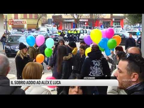 TG VICENZA (05/01/2018) - IL SOBRIO ADDIO AD ALEX E LUCA