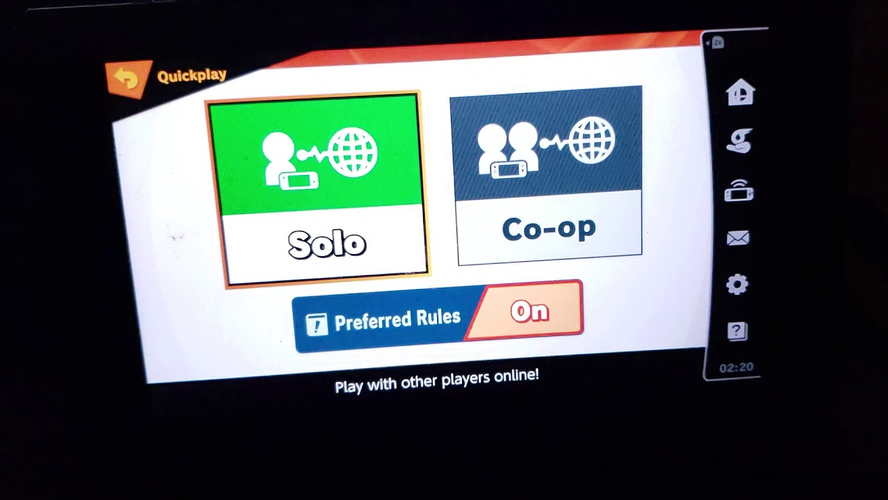 How to set quickplay preferred rules on smash ultimate