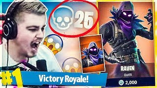 NYT FORTNITE ''RAVEN'' SKIN GAMEPLAY + 25 KILLS SQUAD WIN!