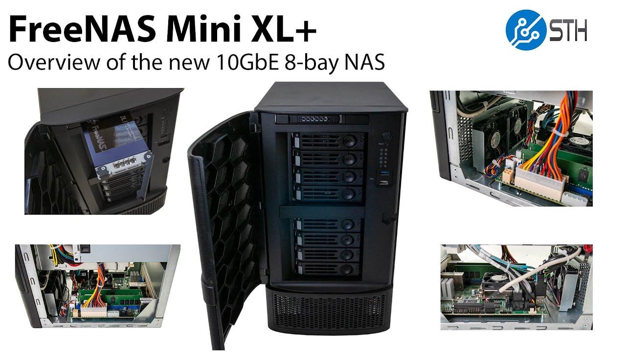 FreeNAS Mini XL Plus Review 8-bays and 10GbE - ServeTheHome