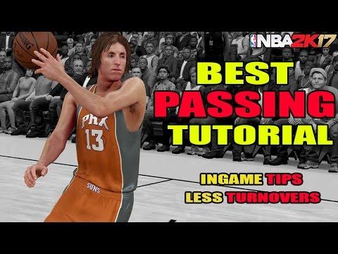 NBA 2K17 - BEST PASSING TUTORIAL - LESS TURNOVERS - SCORE EASY