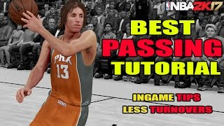 NBA 2K17 - BEST PASSING TUTORIAL - LESS TURNOVERS - SCORE EASY