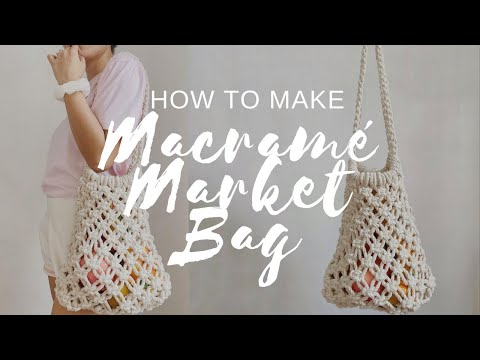 How To Make Macrame Bag | 02 Macrame Market Bag | DIY Beach Bag - YouTube