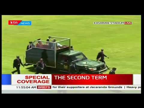 Download Youtube: President Uhuru Kenyatta arrives at Kasarani Stadium for his inauguration ceremony