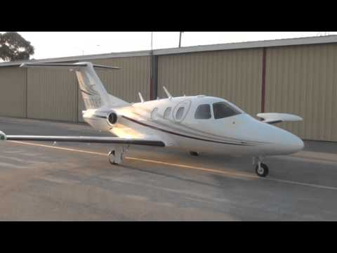 MUST SEE Eclipse 500 Close Up Engine Start Up, Taxi, and Take Off at San Carlos Airport-KSQL