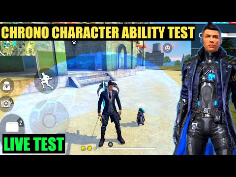Chrono character ability test   free fire new character chrono live ability test   Cr 7 skill test