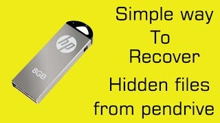 Pen drive data recovery of hidden files easily