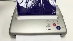 Stencil Fax Machine Demo for making tattoo Stencil Outlines