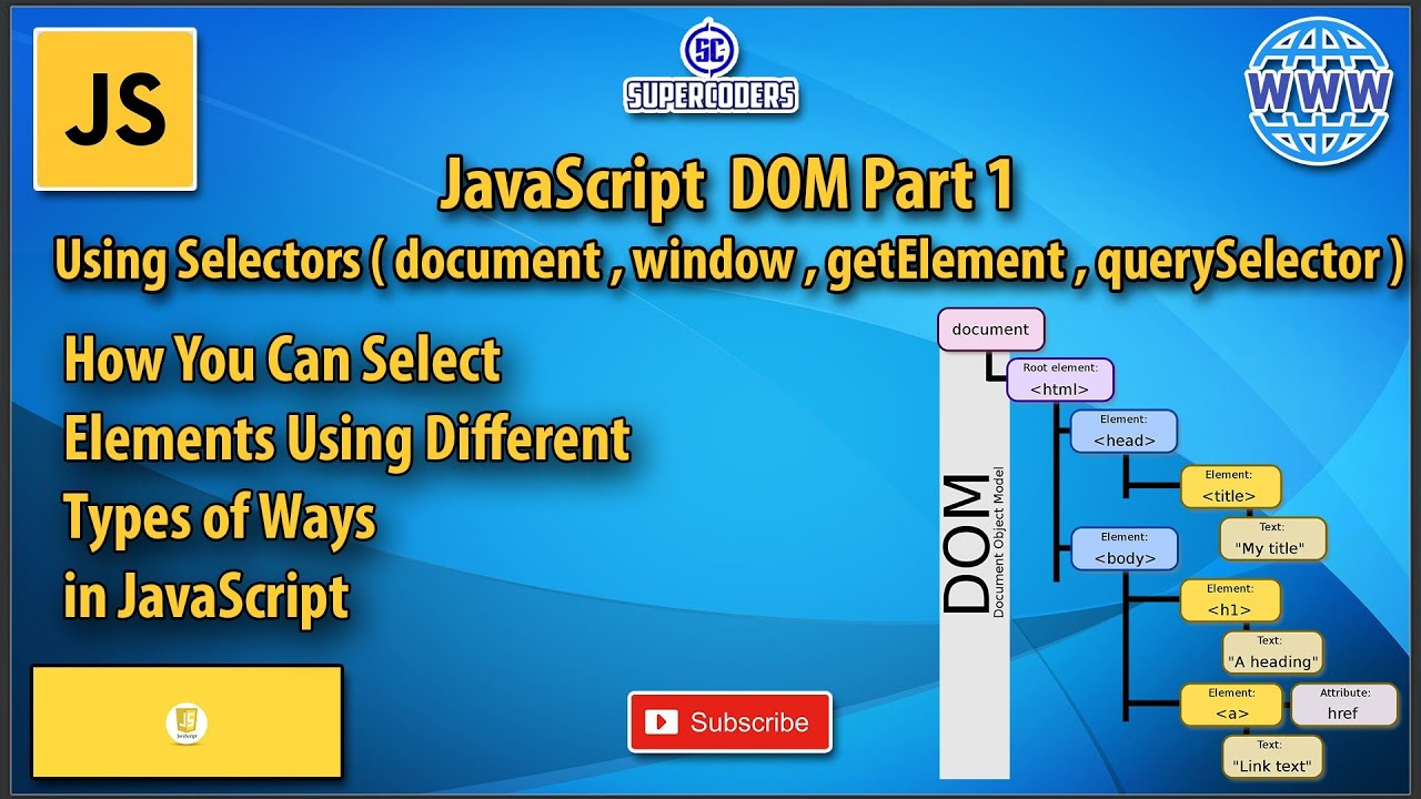 How to Select HTML Elements Using Javascript | Javascript DOM Tutorial