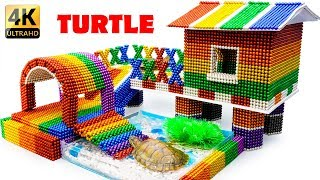 DIY - Build Turtle Aquarium House With Magnetic Balls (Satisfying) - Magnet Balls
