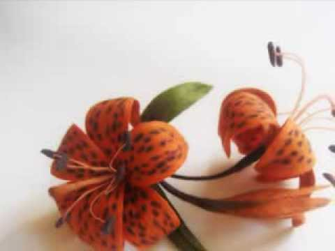 Валяние из шерсти лилия тигровая