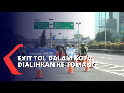 Tol Dalam Kota Ramai Lancar, Seluruh Pengendara Diarahkan Keluar di Pintu Tol Tomang