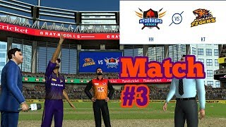 #3 KKR vs SRH - Kolkata vs Hyderabad Our team Rcpl / IPL 2019 -2020 Real Cricket 19 Tournament