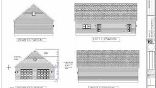 G478 Garage Plans 32 X 50 X 10 With Attic Storage