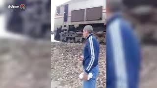 ننشر لحظة مواجهة قطاري المنصورة وجهًا لوجه - فيديو