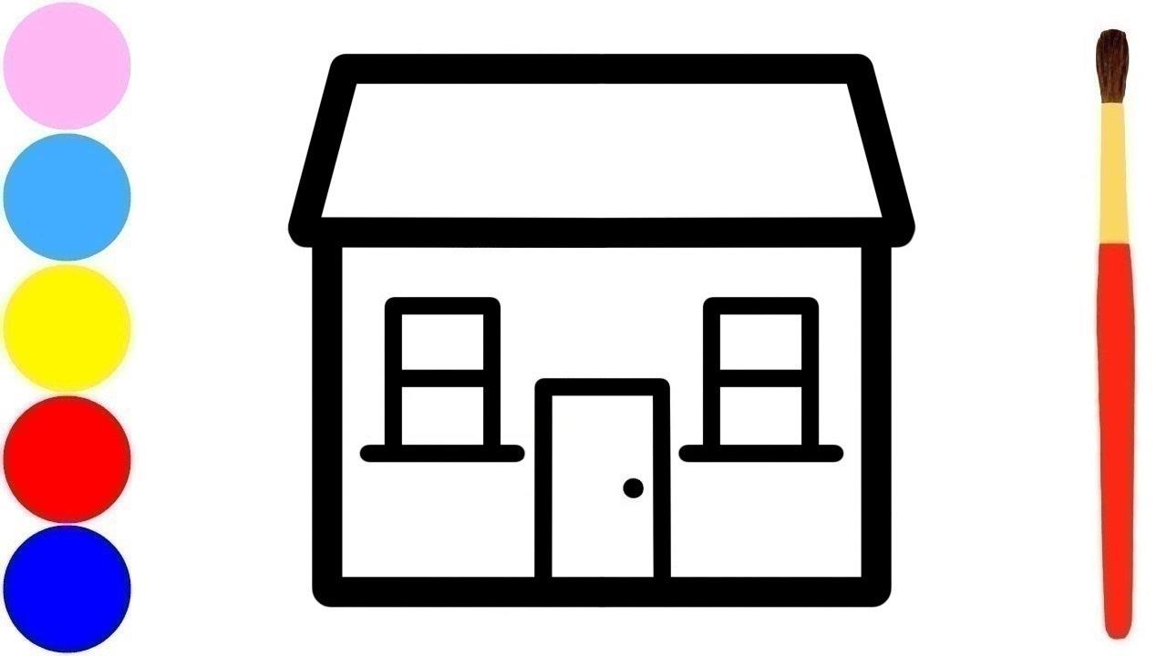Rumah Sederhana Menggambar Dan Mewarnai Untuk Anak
