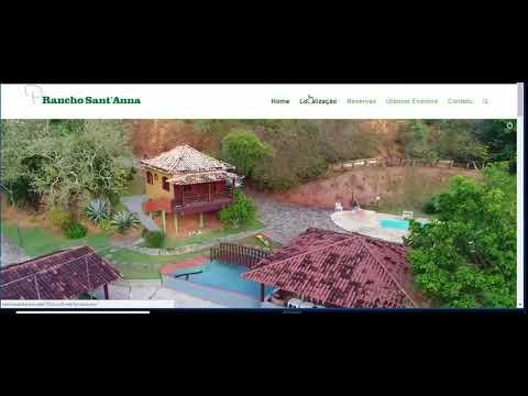 Site Rancho santana  - Apresentação